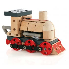 Brio Builder Steam Train Puinen Juna 120 osaa