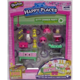 Shopkins Happy Places Kitty Dinner Party -huonekalupakkaus